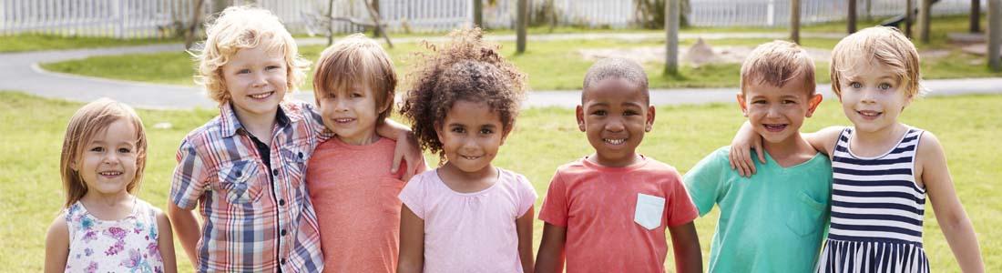 Preschoolers on playground